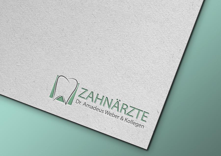 Mockup: Logo für einen Zahnarzt